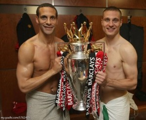 Nemanja Vidić og Rio Ferdinand