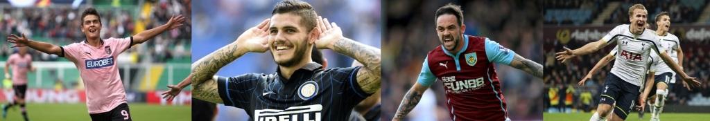 Paulo Dybala (Palermo, 21 árs), Mauro Icardi (Inter, 21), Danny Ings (Burnley, 22), Harry Kane (Tottenham, 21)